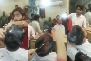 Cabeleireiro incendeia cabelo a cliente [vídeo]