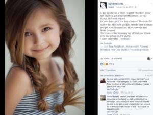Perdeu a filha porque cometeu um erro no Facebook