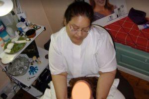 Foto que comprova que Maribel exercia como massagista.