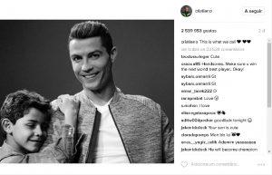 Cristiano Ronaldo declara o seu amor nas redes sociais