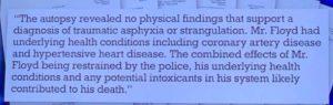 George Floyd: Autópsia polémica não revela morte por asfixia nem estrangulamento