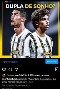 João Félix 'alimenta' possível ida para a Juventus