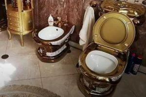 Encontrada sanita de ouro em mansão de polícia corrupto