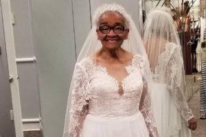 Idosa de 94 anos impedida de comprar vestido de noiva por ser de cor