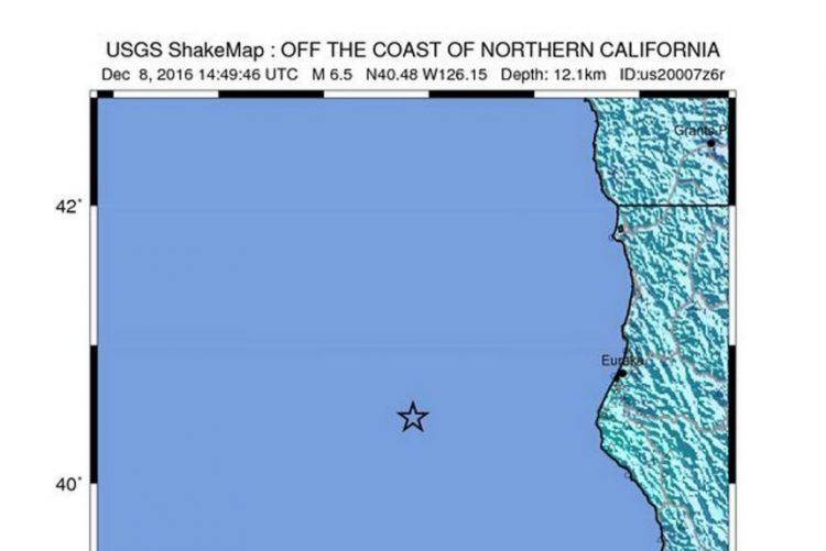 Sismo de magnitude de 6,5 atinge costa da Califórnia, nos Estados Unidos