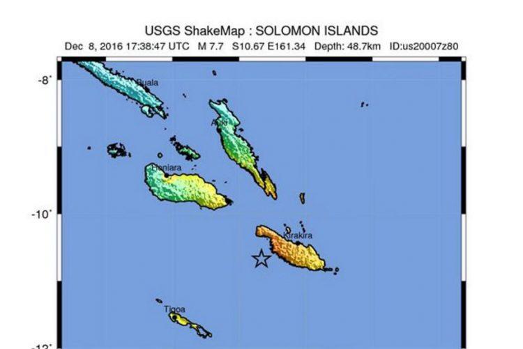 Sismo de magnitude 7,7 nas ilhas Salomão provoca aviso de tsunami