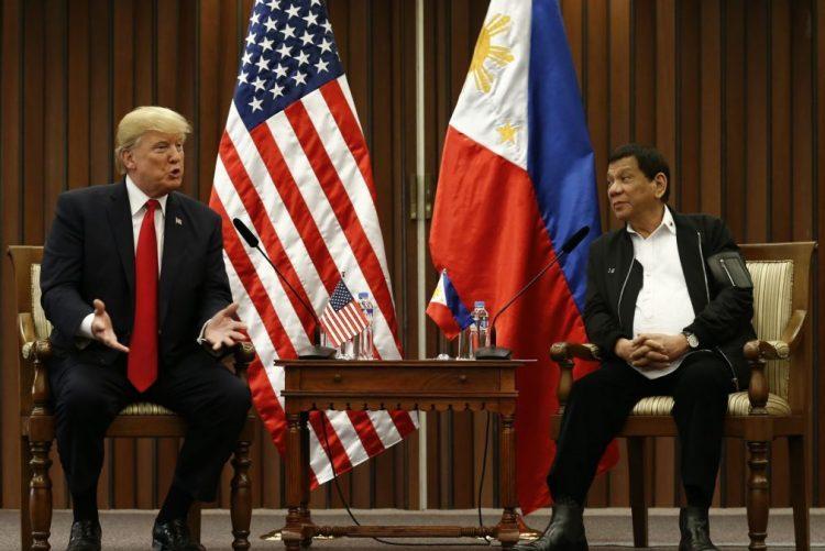 Trump evita falar publicamente nas Filipinas sobre campanha antidrogas de Duterte