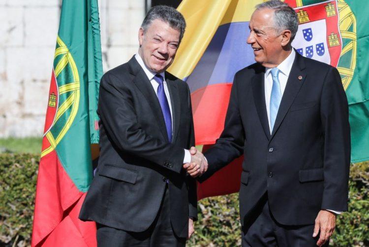 Marcelo expressa apoio de Portugal ao Presidente da Colômbia «construtor da paz»
