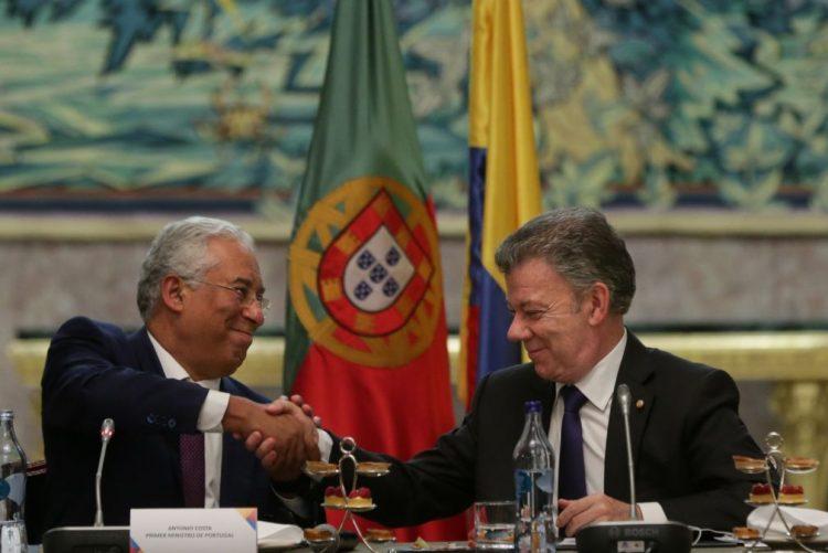 Costa salienta estabilidade política nas relações entre Portugal e Colômbia