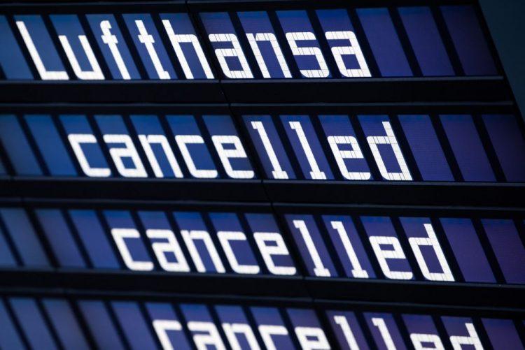 Greve de seis dias na Lufthansa custou 100ME à companhia aérea alemã