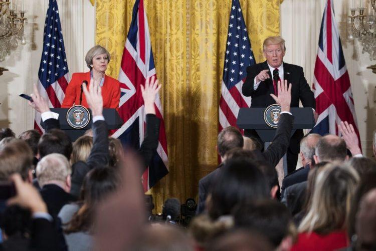 Trump e May sublinham