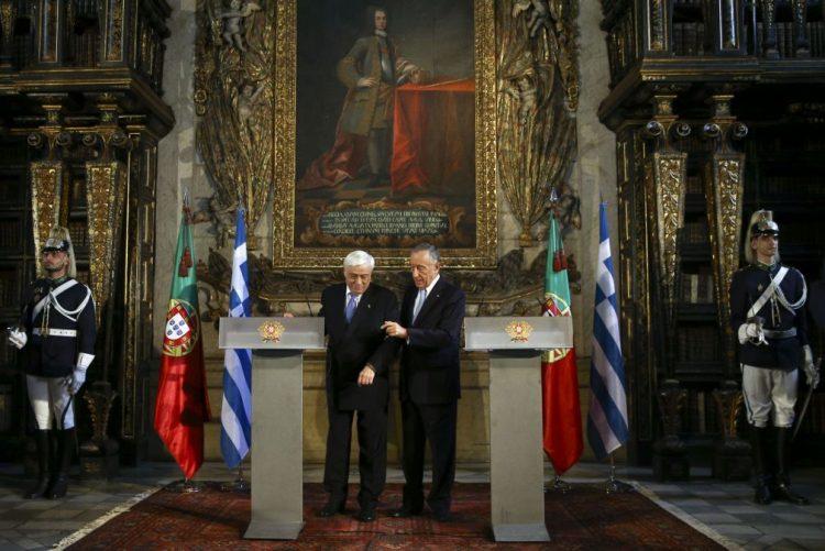 Presidentes de Portugal e da Grécia com pontos de vista comuns sobre refugiados