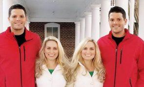 Estes quatro vão casar. E claro, conheceram-se num festival anual de gémeos