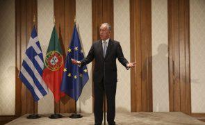 PR/Grécia: Marcelo elogia evolução de Portugal e vê boas perspetivas para o povo grego (C
