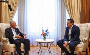 Podem contar com Portugal neste momento importante, diz Marcelo a Tsipras