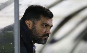 Sérgio Conceição exige resposta à derrota frente ao Paços com o Boavista