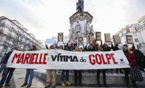 Cerca de 500 pessoas protestam em Lisboa contra assassínio de vereadora brasileira