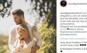Laura Figueiredo e Mickael Carreira revelam foto da gravidez