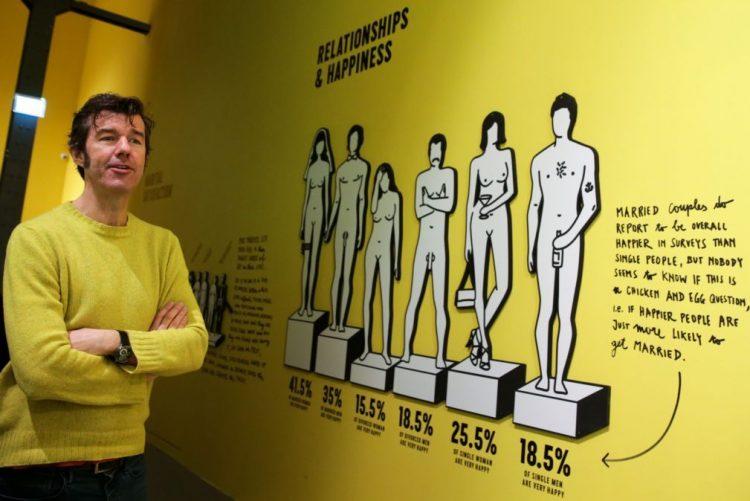Exposição de Sagmeister convida à felicidade mas não traz felicidade