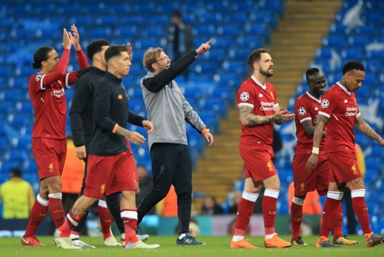 Liverpool volta a vencer Manchester City e passa às 'meias' da Liga dos Campeões