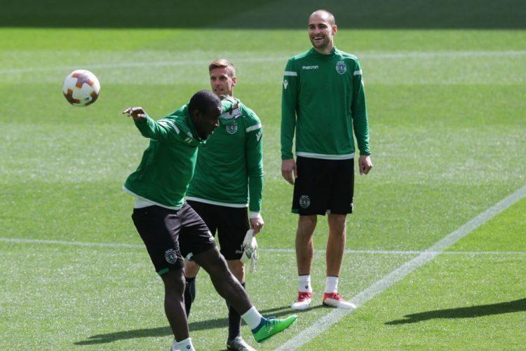 Piccini e William Carvalho ausentes do treino do Sporting