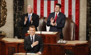 Macron pede no Congresso aos Estados Unidos para «reinventarem o multilateralismo»