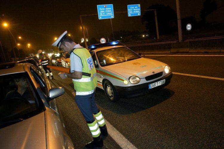 GNR fiscaliza condução sob efeito do álcool a partir de terça-feira e até 28 de maio