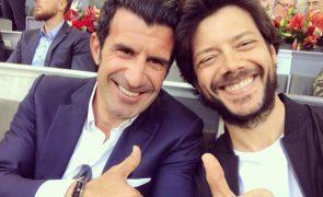 Luís Figo encontra-se com ator de «La Casa de Papel»