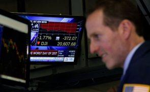 Wall Street fecha em baixa arrastada por taxas de juro e incerteza geopolítica