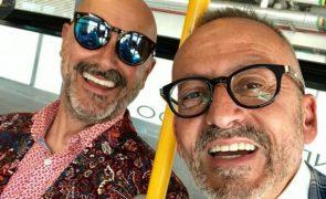 Manuel Luís Goucha parte para Inglaterra e leva o marido atrás
