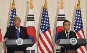 Coreia do Sul e EUA vão continuar esforços para realizar cimeira com Coreia do Norte