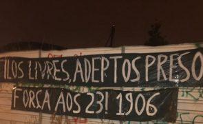 Sporting: Adeptos deixam mensagem de apoio a agressores de Alcochete em Alvalade