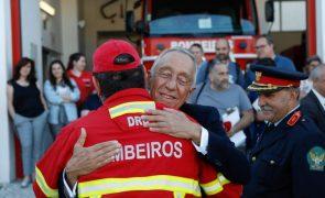 Marcelo diz que voluntariado foi essencial após incêndio na zona de Pedrógão