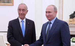Putin encontra-se com Marcelo Rebelo de Sousa e elogia Portugal
