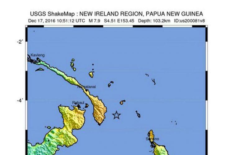 Alerta de tsunami no Pacífico após sismo de 7,9 na Papua Nova Guiné