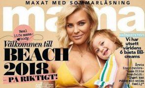 Maternidade real: Modelo mostra barriga pós parto em capa de revista
