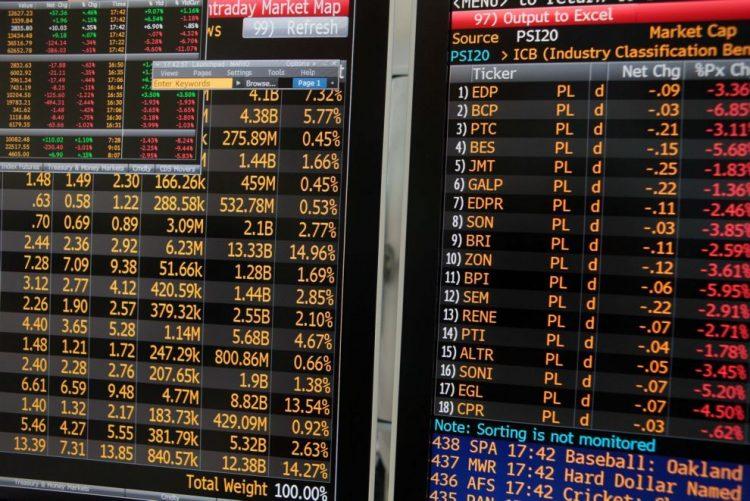 PSI20 cede 0,44% e acompanha tendência negativa das bolsas europeias