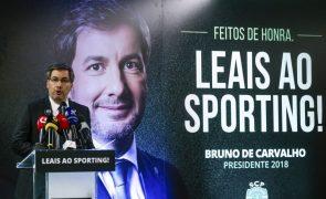Bruno de Carvalho apresenta candidatura ao Sporting e evita comentar legitimidade da mesma