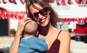 Núria Madruga mostra a cara do filho mais novo pela primeira vez