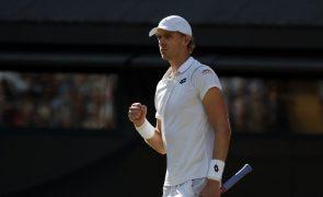Sul-africano Kevin Anderson na final de Wimbledon após nova maratona de seis horas