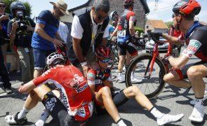 Richie Porte cai e abandona o Tour de France