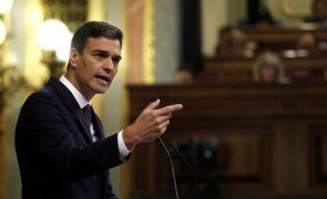 Pedro Sánchez eleva em meio ponto percentual o objetivo de défice orçamental