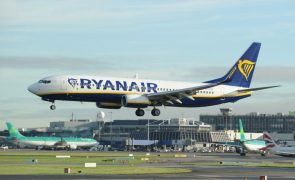 Quase 300 voos da Ryanair na Irlanda