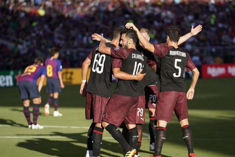 André Silva dá vitória ao Milan sobre o FC Barcelona