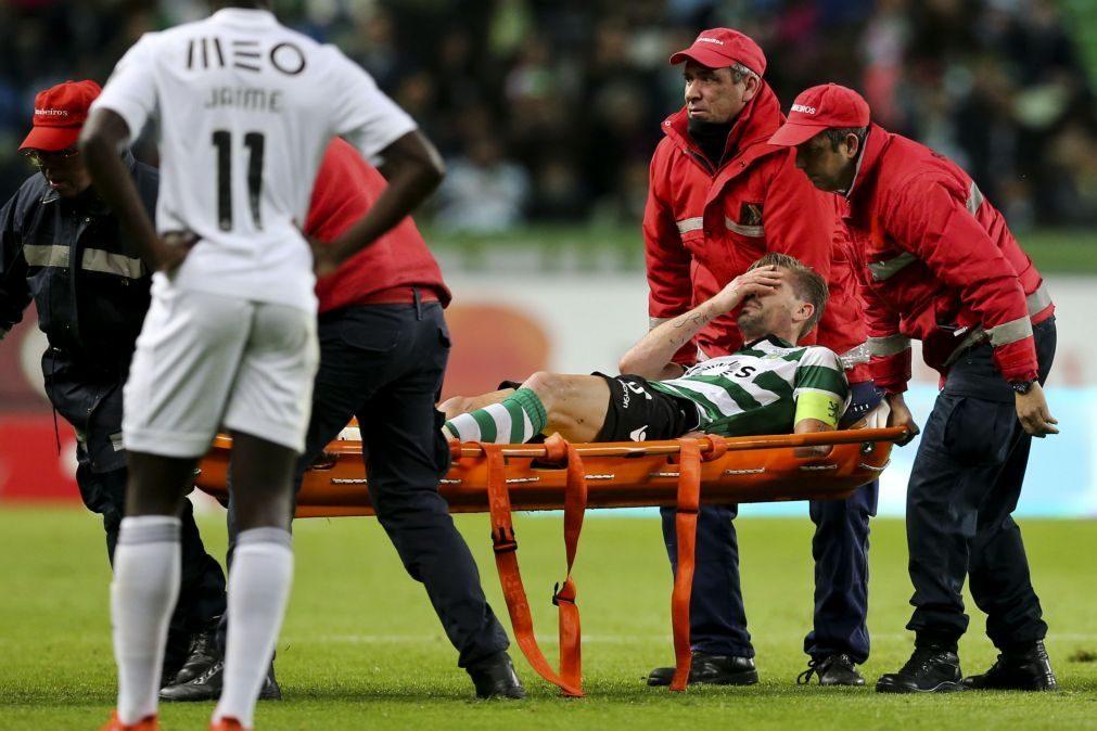 Alerta no reino leonino: Adrien Silva lesionado fica afastado dos relvados até oito semanas