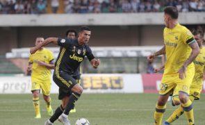Cristiano Ronaldo e João Cancelo com estreias agridoces pela Juventus