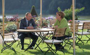 Chanceler alemã e Presidente russo coincidem sobre a Ucrânia e a Síria