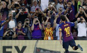 Lionel Messi bisa e faz golo 6.000 do FC Barcelona no triunfo frente ao Alavés