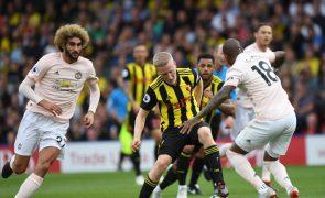 Manchester United vence 2-1 em casa do Watford, Liverpool e Chelsea líderes