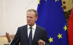 Donald Tusk diz ser possível que não haja acordo sobre o 'Brexit' até março de 2019